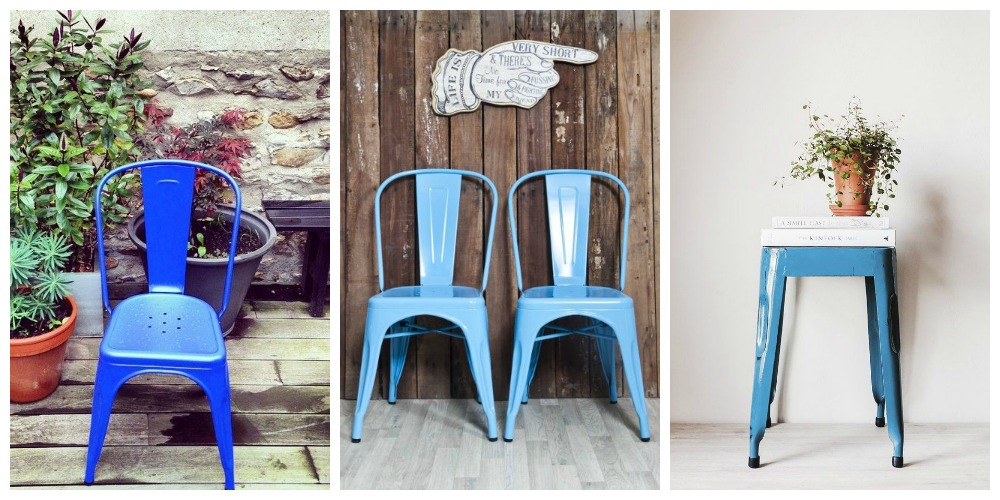 silla tolix azul