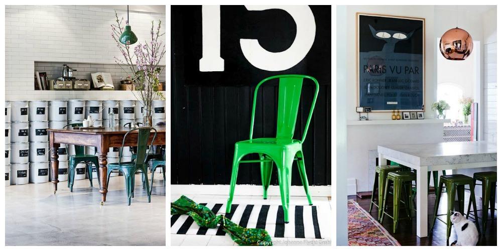 silla tolix verde