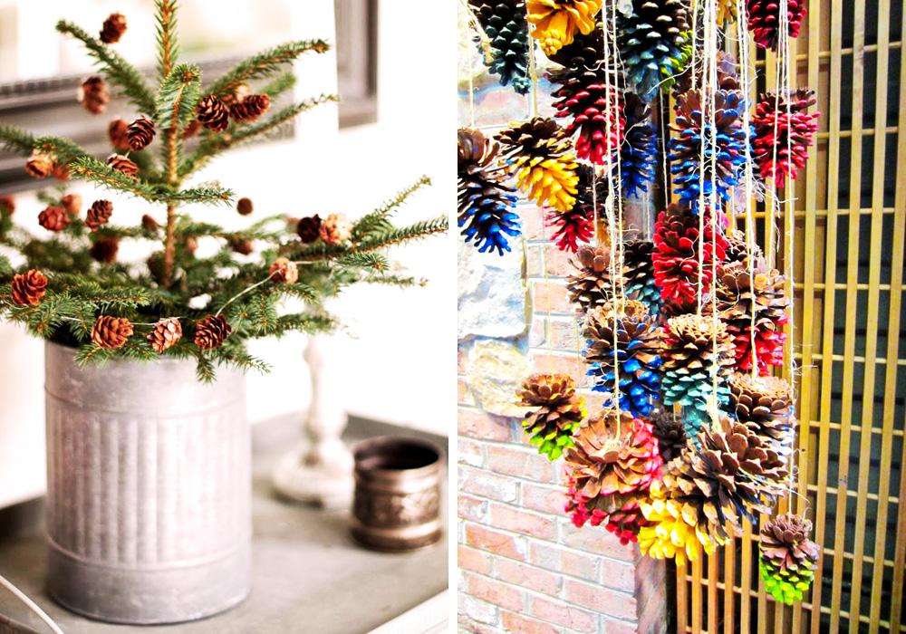 Casa hecha de ramas secas y helechos pictures to pin on - Decorar casa en navidad ...