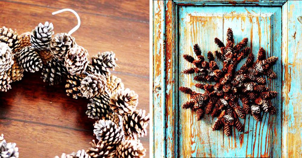 5 ideas para decorar con pi as la navidad hello marielou - Adornos de navidad con pinas ...