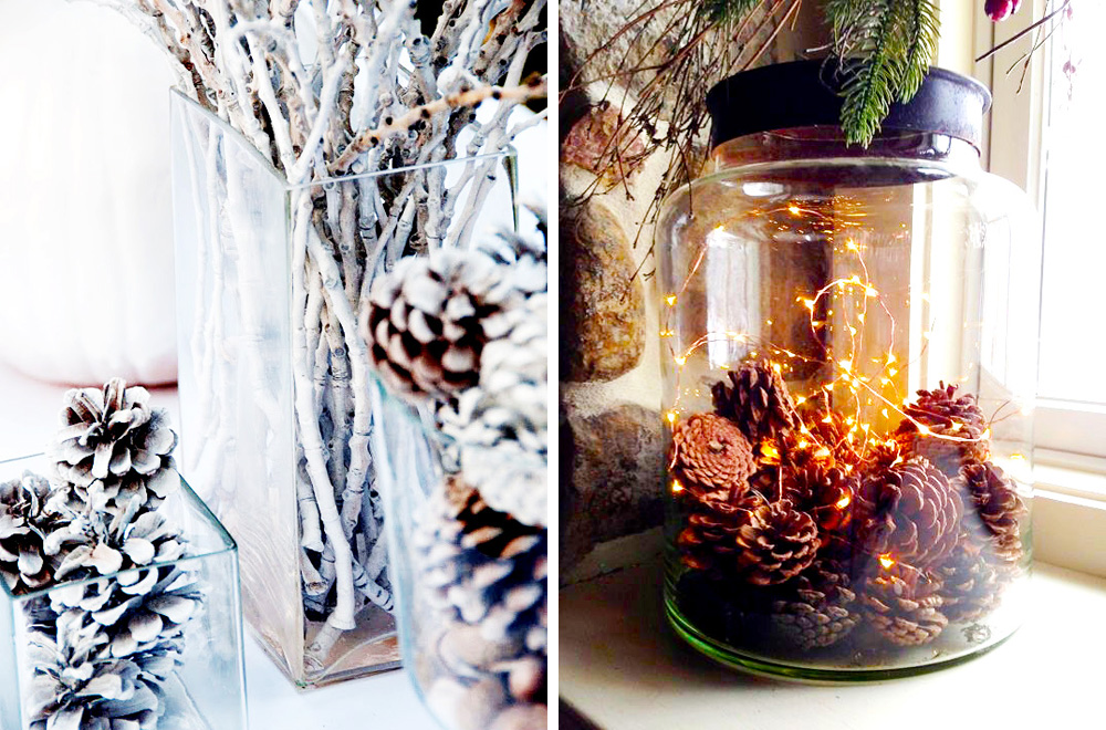 5 ideas para decorar con pi as la navidad hello marielou - Decoracion con pinas ...
