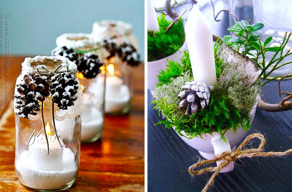 Decorar con pi as la navidad 10 hello marielou - Pinas de pino para decorar ...