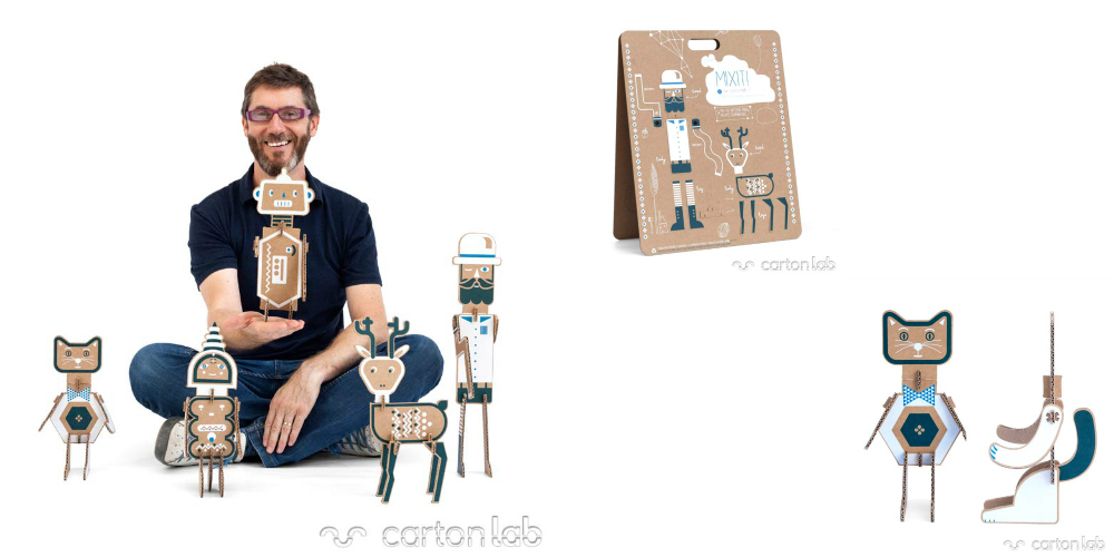 Juguetes MIXIT! en colaboración con el ilustrador Diego Lizán