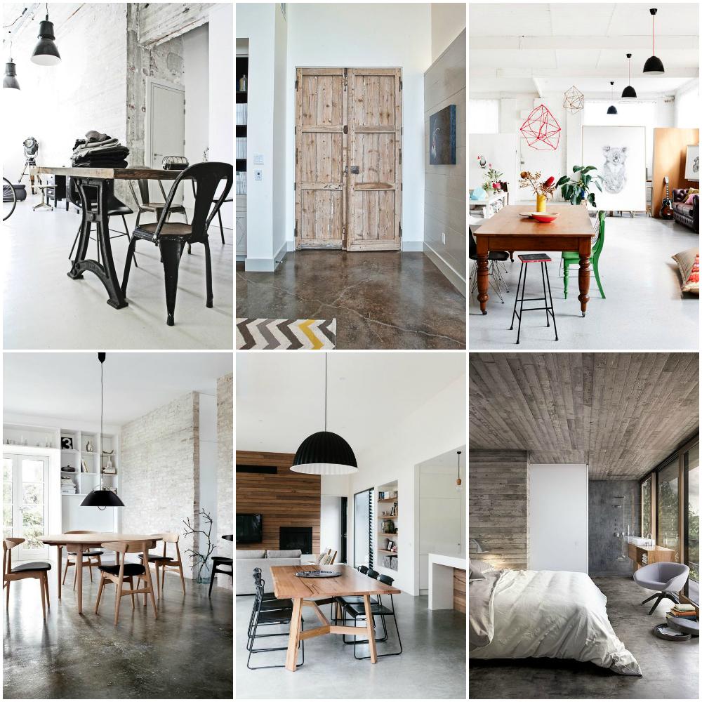 Cemento pulido para suelos fabulous cemento con for Pintura estilo industrial