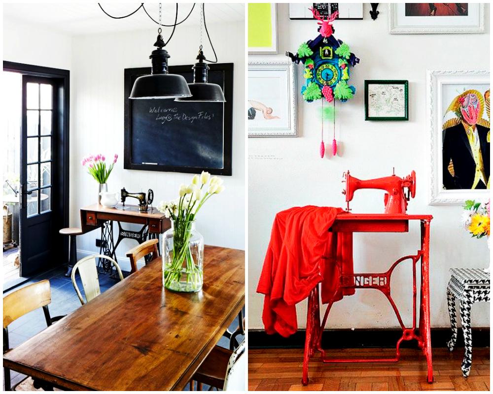 5 Ideas Para Reciclar M Quinas De Coser Antiguas Hello Marielou # Muebles Maquina De Coser Segunda Mano